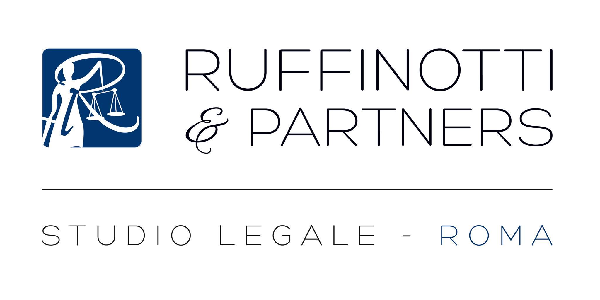 """Logo dello studio legale """"Ruffinotti & Partners"""" sito a Roma"""